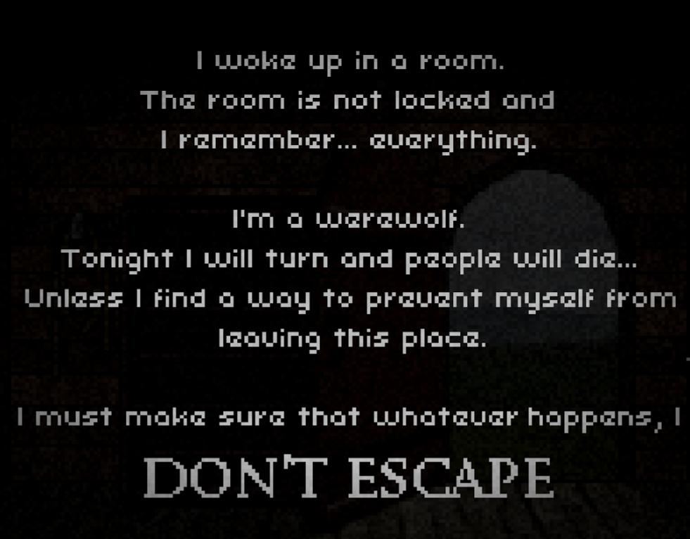 "Don't Escape, an ""escape-the-room"" video game by Scriptwelder"