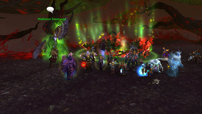 World of Warcraft raid team