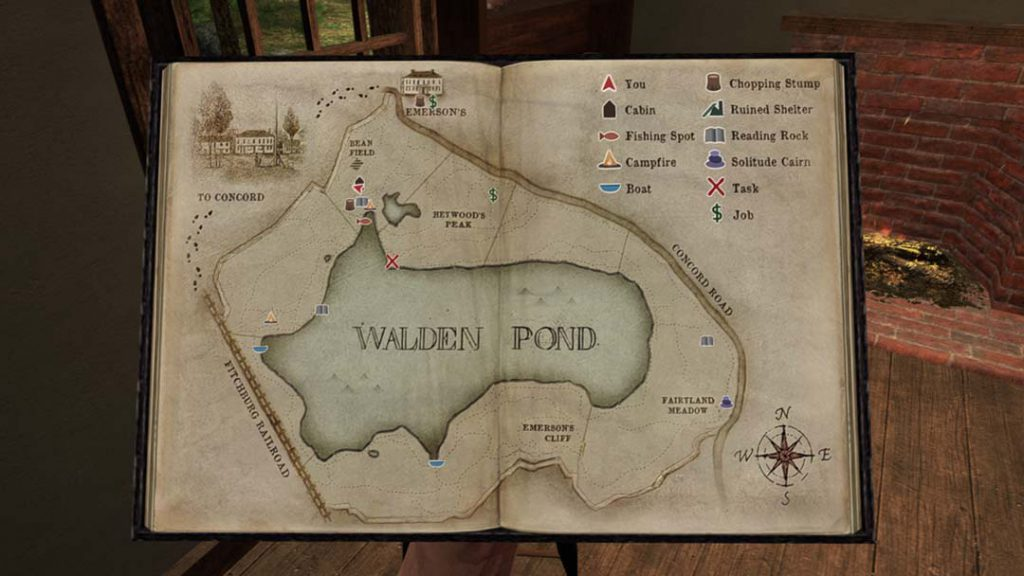 Walden Game Map